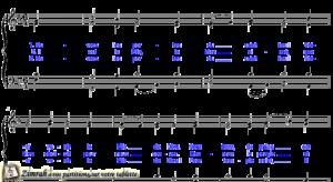Zimrah partition : « Ouvrez les portes du saint lieu » par Weissel Georg (book1} N°317)
