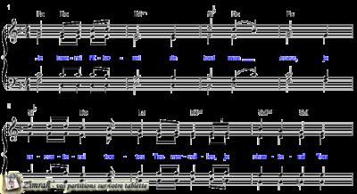 Zimrah partition : « Je louerai l'Eternel » par Claude Fraysse
