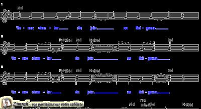 Zimrah partition : « Venez chanter de joie » par Brent Chambers (book1} N°337)