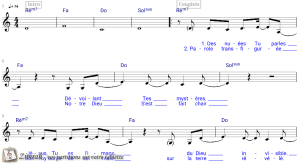 Zimrah partition : « Transfiguration » par Aodhan King