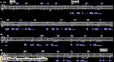 Zimrah partition : « Alléluia » par Dan Luiten