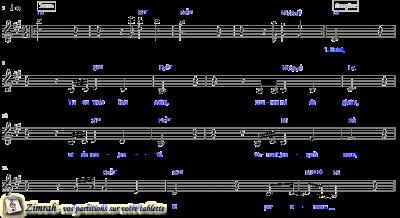 Zimrah partition : « Yahweh » par Dan Luiten