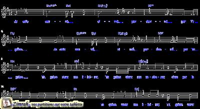 Zimrah partition : « Ta grâce » par Benjamin Pouzin