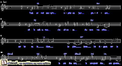 Zimrah partition : « Je chanterai Ton nom » par Emmanuel Pelatan (book1} N°1070)