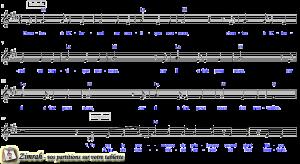 Zimrah partition : « Chantez à l'Eternel » par Samuel Olivier (book1} N°1035)