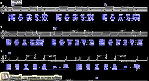 Zimrah partition : « Nous dansons » par Benjamin Pouzin